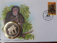 Numisbrief 30 Jahre WWF 1983 Sierra Leone  Schimpanse