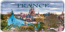 France Disneyland Aluminum Novelty Car Auto License Plate