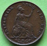 ROYAUME UNI  FARTHING VICTORIA 1853