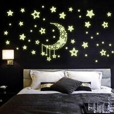 1Sheet Wall Sticker Glow In The Dark Fluorescent Moom Stars For Kids Rooms