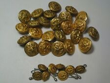 32 Military Buttons - 2 Sizes. #13