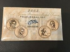 2007 US FIRST SPOUSE BRONZE MEDAL 4 COIN SET IN ORIGINAL PACKAGE NICE AS A GIFT!