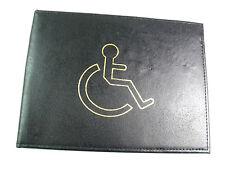 Qualità Nero Vera Pelle disabilitato Badge Holder Wallet disabilità copertura parcheggio