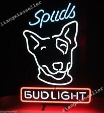 17X14 Inche New Spuds Mackenzie Bud Light Budweiser Neon Sign Beer Bar Pub Light