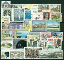 1989U ITALIA 1989 Annata completa USATA 33 val. comprese 2 coppiole, ottime cond
