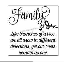 vinyl decal sticker Ikea frame size - Family like branches of a tree we all grow