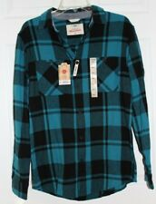 YOUNG MEN'S SZ SMALL LS BUTTON FRONT FLANNEL SHIRT by URBAN PIPLINE-NWT'S