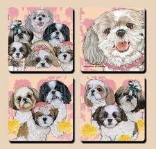 Shih Tzu Rubber Coasters Set of 4