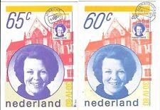 Niederlande 1980/81  2 Maximumkarten Beatrix Nr.  1160+1175