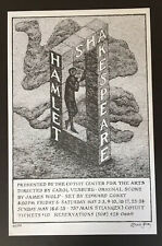 Edward Gorey *Limited Ed. Poster for Hamlet* ILLUSTRATED & SIGNED BY GOREY- RARE