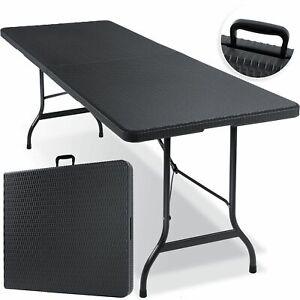 KESSER® Klapptisch Buffettisch Rattan Gartentisch 180cm Campingtisch klappbar