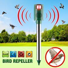 3 in 1 LED Ultrasonic Bird Repeller Pest Animal Repellent PIR Motion Seneor Rats