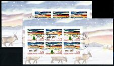 Greenland #531-532b, Christmas, booklet panes, VFU (TP00035)