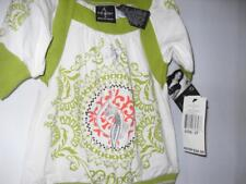 New Girl's Baby Phat Short Sleeve Blouse - Green/White - Size 3T - NWT $26.00