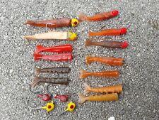 Bagleys Shrimp,Vintage Bagleys Salty Dog Shrimp Lot,Bagleys Lures,Vintage Lures