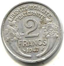 France 1947 Two Franc Coin  - RF Republiove Francaise  - 2 Franc