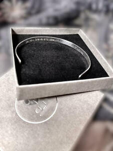 Personalised Handmade Engraved Sterling Silver Secret Hidden message Cuff Bangle