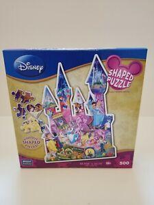 """Disney Unique Shaped Puzzle Princess Castle 500 Pcs MEGA 18""""x 26"""""""