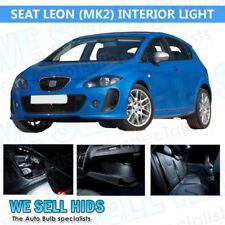 SEAT LEON MK2 7 PIECE WHITE INTERIOR UPGRADE ERROR FREE LED LIGHT BULB SMD KIT