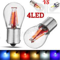 4 filamento COB LED universale per tutti i 12-24V automobili 1157 BAY15D 21/5W 4