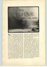 1909 Paper Ad 9 PG Article To the Rescue Lyman Beecher Stowe Coal Mines