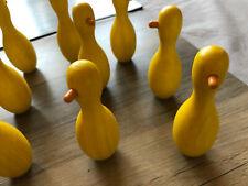 Kegeln Spielzeug Holz Enten