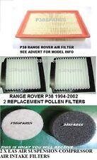 RANGE Rover P38 1994-1997 Filtro dell'aria & 2 x Polline Filtri e 2 X PASTIGLIE FILTRO EAS