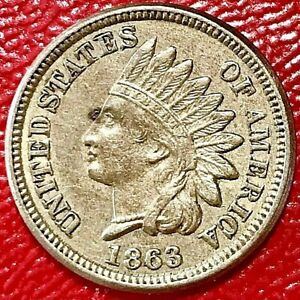 1863 INDIAN HEAD CENT