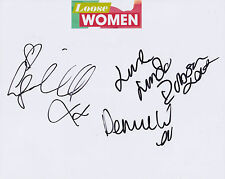 Denise Welch, Linda Robson, Lisa Maxwell HAND SIGNED 8x10 Photo, Autograph