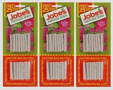 3-50pk's JOBE'S Fertilizer Spikes Flowering House Plants Indoor All YEAR 10-10-4