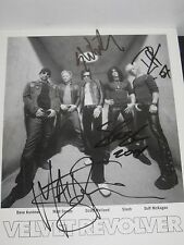 SCOTT WEILAND SIGNED PHOTO AUTOGRAPH SLASH VELVET REVOLVER GUNS N ROSES CD PROOF