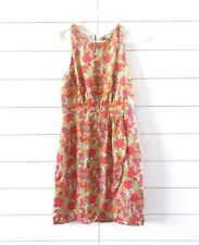 Forever 21 Dress Size Small Pink Orange Floral Print Sleeveless Womens