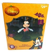 5 ft Airblown Inflatable LED Disney Mickey Mouse Vampire Halloween Yard Blow Up