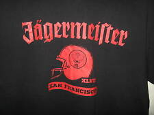 Jagermeister Liqueur Digestif San Francisco California USA Football T Shirt L/XL