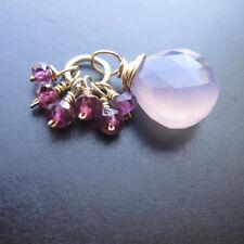 Purple Chalcedony, Garnet Gemstone Charm Interchangeable Pendant