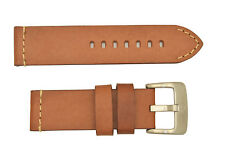 Genuine ALFA 24mm BROWN  e leather watch band STRAP heavy duty