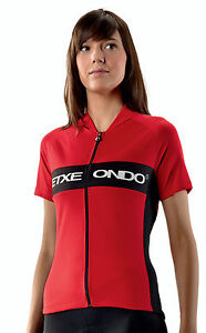 Etxeondo Andre Women's Short Sleeve Cycling Jersey in Red - Made in Spain