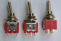 1x Red Mini Toggle Switch DPDT ON-ON Guitar Amp 6Pin