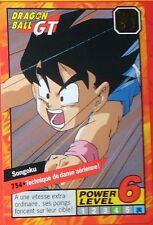 CARTE DRAGON BALL GT N° 754 SONGOKU POWER LEVEL 6 VERSION FRANCAISE