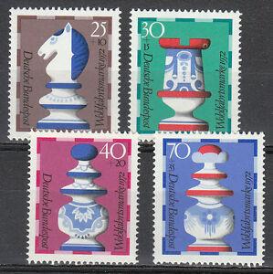 Germany 1972 MNH Mi 742-745 Sc B491-494 Chess pieces **