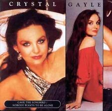 Crystal Gayle-Cage the Songbird/Nobody Wants To Be Alone CD SEALED title sticker