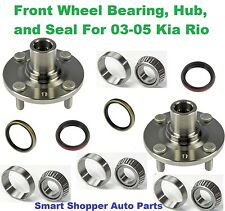 Front Wheel Bearing, Hub, and Seal For 2003-2005 Kia Rio-Pair (left and right)