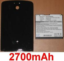 Case + battery 2700mah type 35h00120-01m 160 blac for htc touch hd t8282