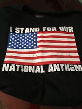 FLAG - I STAND FOR NATIONAL ANTHEM T-SHIRT * Black *XXL* New