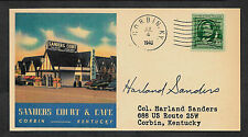 1940 Colonel Sanders KFC Autograph Reprint On Collector's Envelope *126