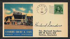 1940 Colonel Sanders KFC Autograph Reprint On Orig. Period  3 X 6 Card *126