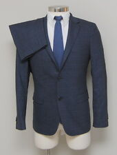 NWT Mens 40S Theory Wellar 2 Piece Blue Glen Check Wool Blend Suit