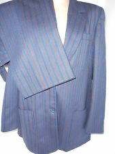 DANNA for FEATHERS Womens 2 Piece Pants Suit Blazer Jacket Size 44 France Blue