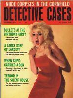ORIGINAL Vintage November 1966 Detective Cases Magazine GGA