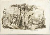 1825 - Engraving Antique Jean Lannes & Latour D'Auvergne - General - Militaria